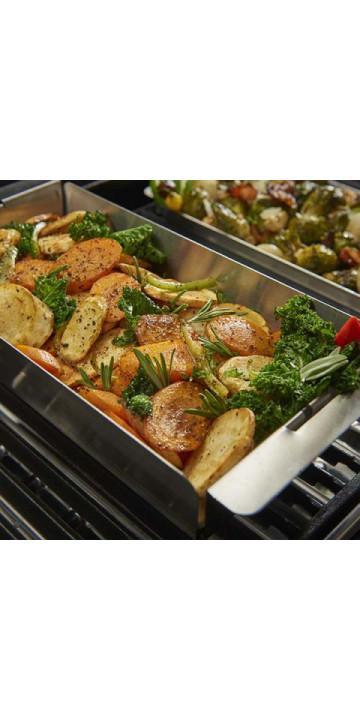 Сковородка прямоугольная узкая со стенками для гриля Broil King