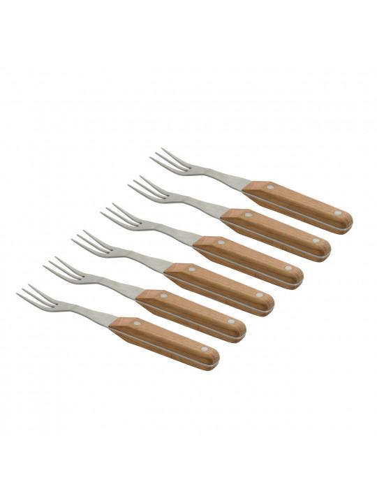 Berghoff набор вилок для стейка с деревянными ручками 22 см 6 пр