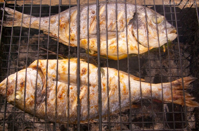решётка гриль для рыбы барбекю